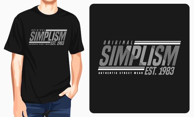 T-shirt z okrągłym dekoltem i nadrukiem simplism
