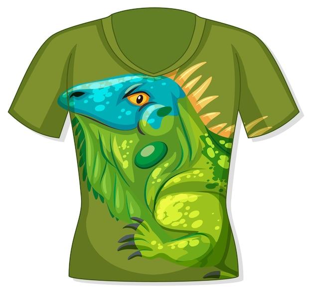 T-shirt z wzorem iguany