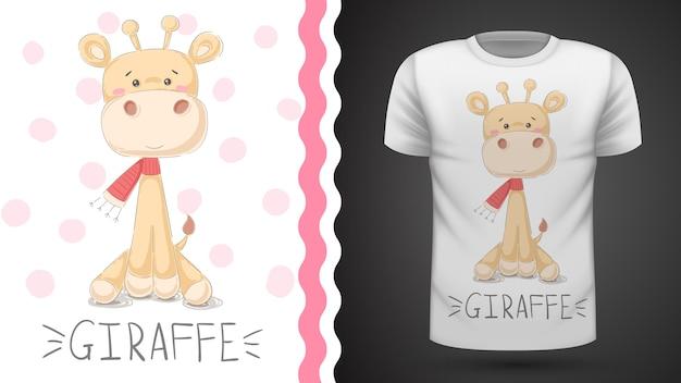 T-shirt ze słodkimi żyrafami