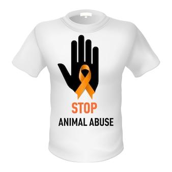 T-shirt znęcanie się nad zwierzętami