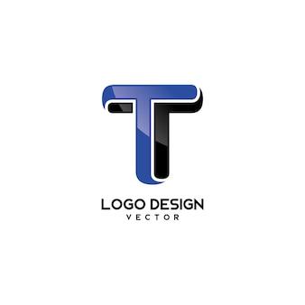 T symbol logo projekt wektor