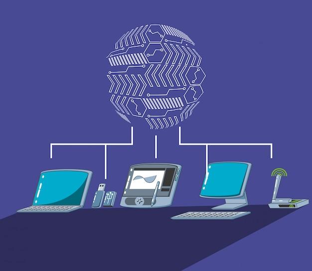 Tablet graficzny z komputerami