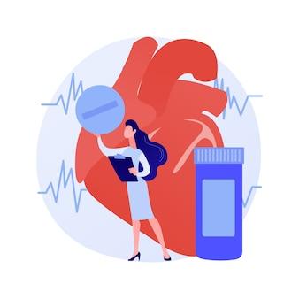 Tabletki na serce, butelka tabletek. produkty drogeryjne, ochrona zdrowia, dawkowanie antybiotyków. środki przeciwbólowe, przeciwbólowe, uspokajające na białym tle. ilustracja wektorowa na białym tle koncepcja metafora