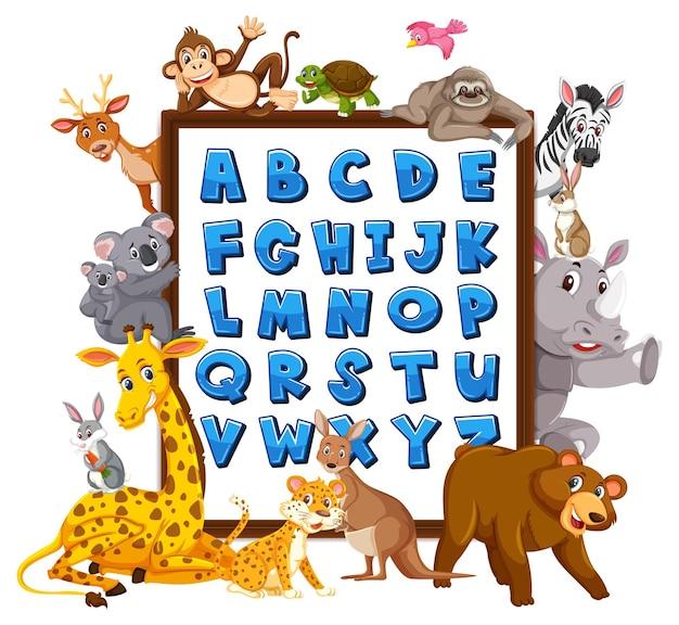 Tablica alfabetyczna az z dzikimi zwierzętami
