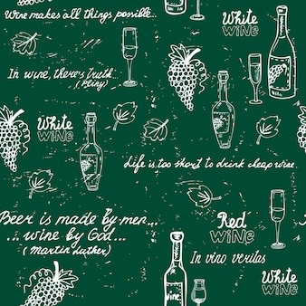 Tablica bez szwu wzór wina