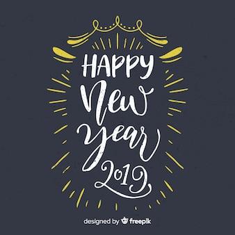 Tablica nowego roku tło