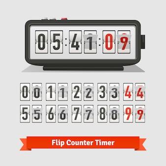 Tablica odwzorowująca zegar czasowy i szablon licznika