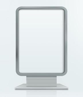 Tablica reklamowa stoiska reklamowego. ilustracja na białym tle
