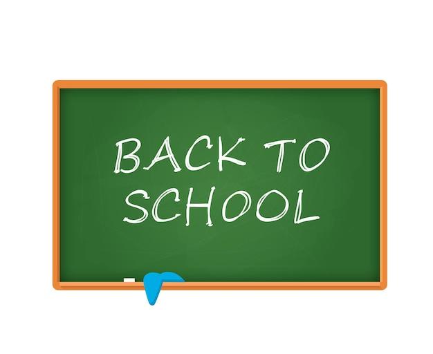 Tablica szkolna z doodlem kredą powrót do szkoły