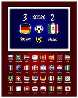 Tablica wyników meczu piłki nożnej