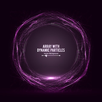 Tablica z cząsteczkami dinamic vector with splash
