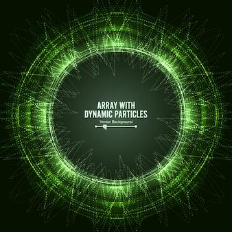 Tablica z cząstkami dinamicznymi vector with dynamic particles