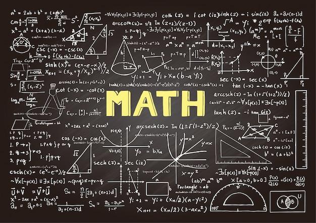 Tablica z elementami matematyki