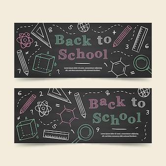 Tablica z powrotem do szablonu banery szkolne