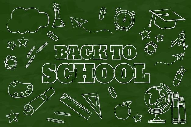 Tablica z powrotem do tła szkoły