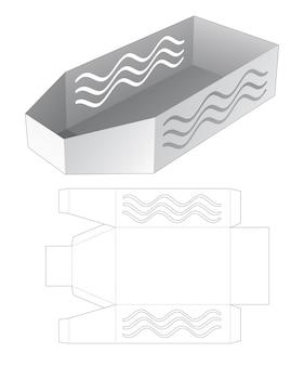 Taca w kształcie łodzi z szablonem wycinanym z szablonu falistej