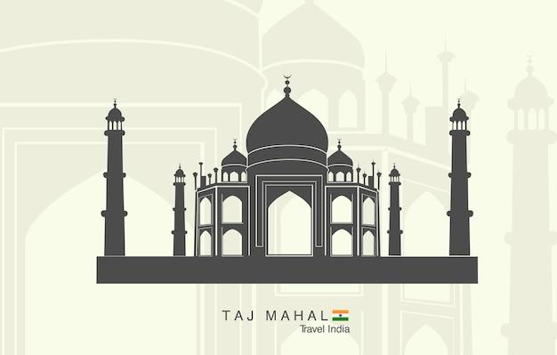 Taj mahal w indiach.