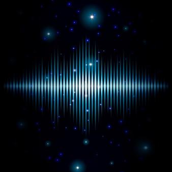 Tajemniczy błyszczący niewyraźne znak dźwiękowy z błyszczy tło