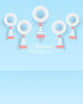 Tajlandia dzień matki tło