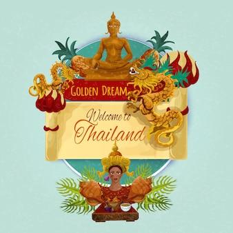 Tajlandia turystyczny plakat