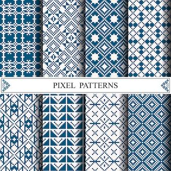 Tajlandzki piksel wzór dla robić tkaniny tkaninie