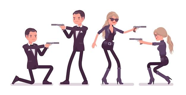 Tajny agent, mężczyzna i kobieta