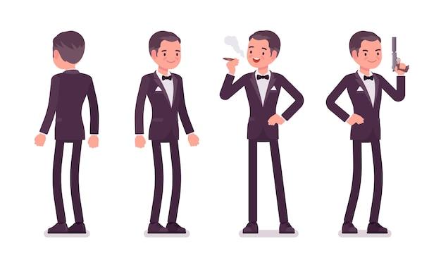 Tajny agent, szpieg dżentelmena stojącego w służbie wywiadu