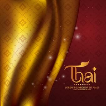 Tajski wzór tradycyjnej koncepcji sztuki tajlandii