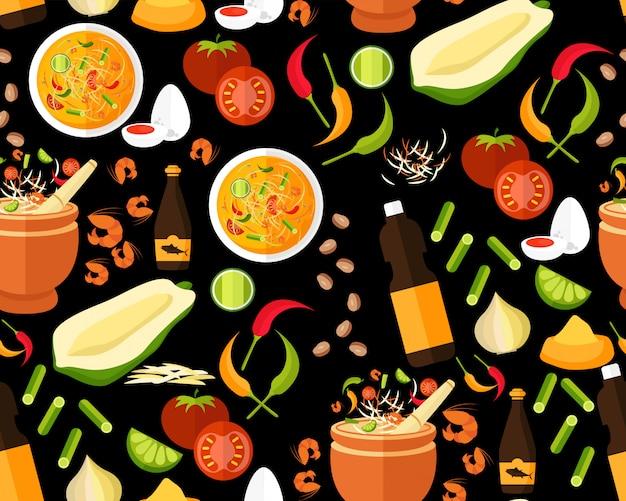 Tajski wzór żywności