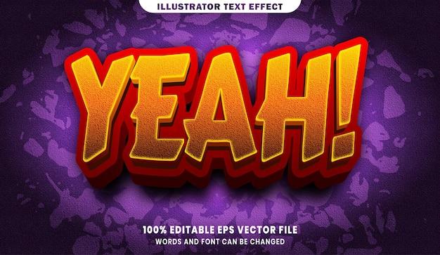 Tak, efekt edytowalnego stylu tekstu 3d