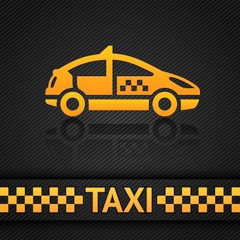 Taksówka w tle