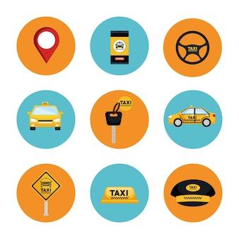 Taksówki zestaw usług transportowych internet