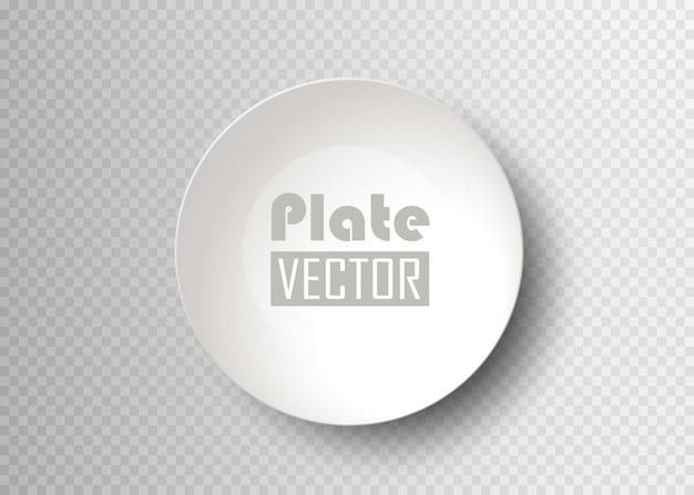 Talerz żywności na białym tle. puste naczynie