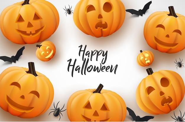 Tam uśmiechnięta impreza z dyni halloween