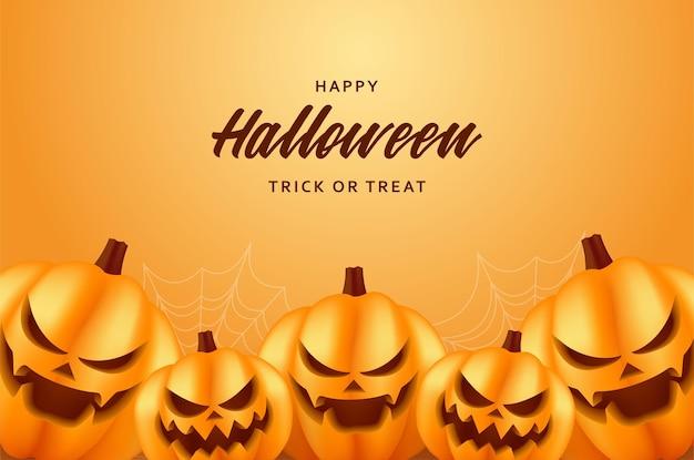 Tam uśmiechnięte dynie halloween
