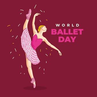 Tancerka baletowa wektor - światowy dzień baletu