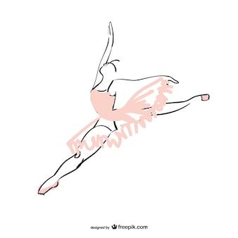 Tancerka baletu wektor