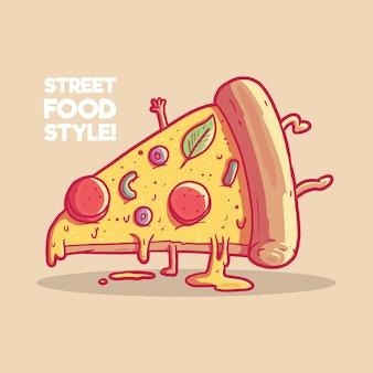Tańczący kawałek pizzy