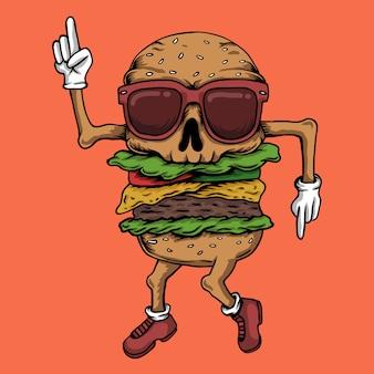 Taniec burgera z czaszką