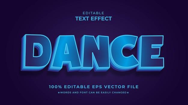 Taniec efekt tekstowy edytowalny plik wektorowy eps