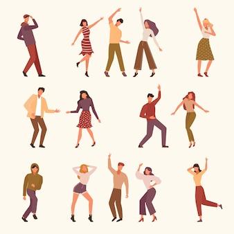 Taniec ilustracji ludzi