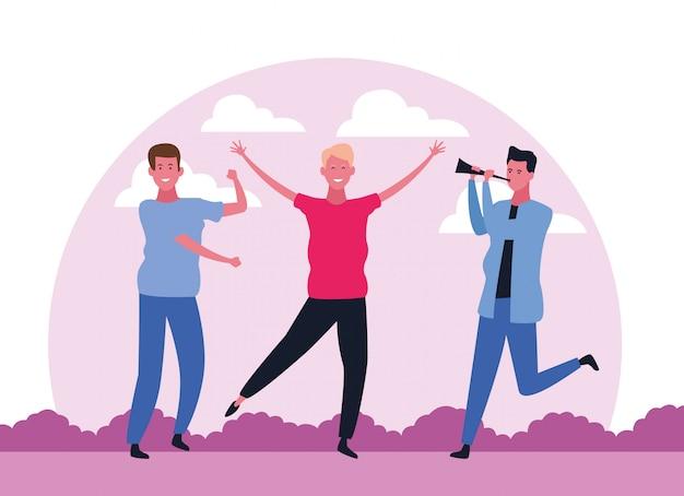 Taniec ludzi w awatara