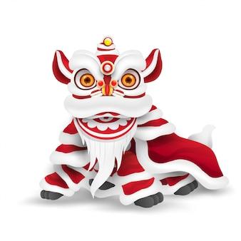 Taniec lwa chińskiego nowego roku.