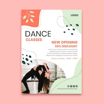 Taniec plakat szablon