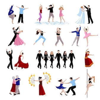 Taniec różnych stylów tańca