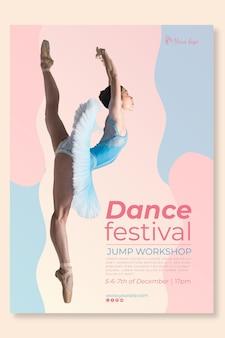 Taniec szablon ulotki festiwalu