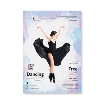 Taniec szablon ulotki