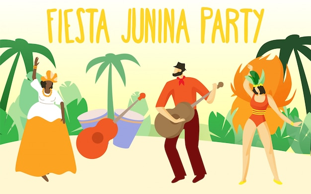 Taniec w carnival people. fiesta junina perty.