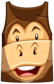 Tank top z twarzą w małpi wzór