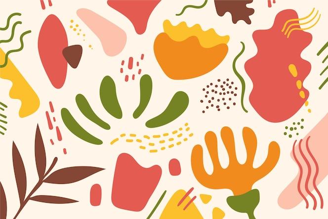 Tapeta abstrakcyjna kształty organiczne